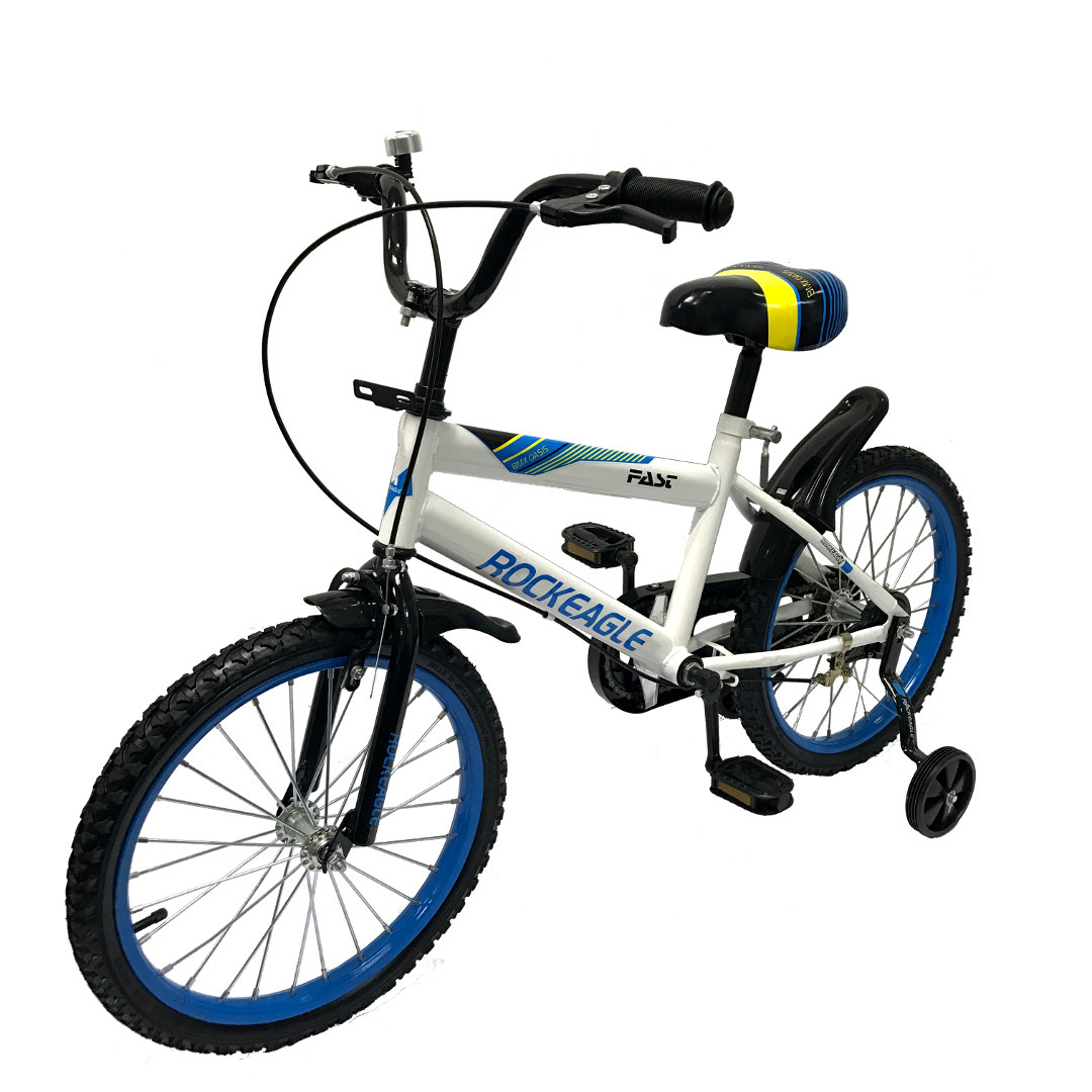 Children bike 18 inch wheel size - White/Blue - Singapore online ...