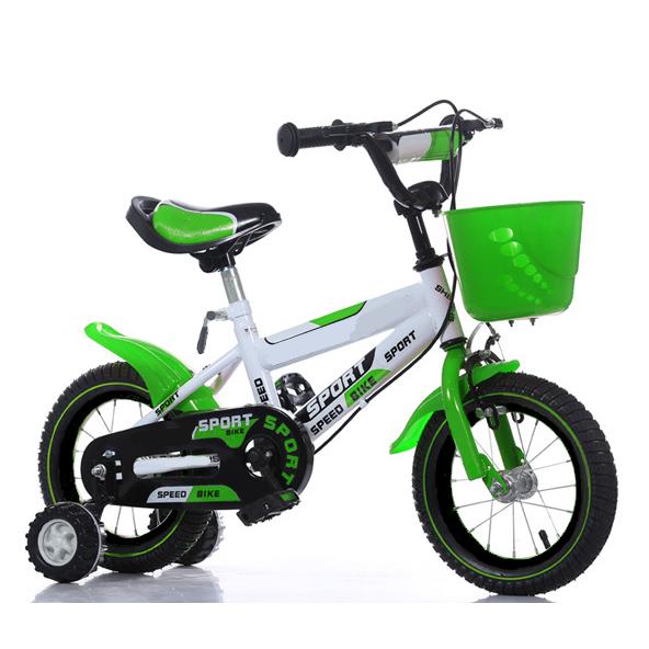 Children bike 16/18 inch wheel size - green/white